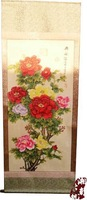 chinese antique Calligraphy /paintings Scroll Peony picture 158cmx58cm