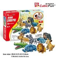 CubicFun three-dimensional 3D puzzle building model educational toys/children toys - P611h animal carnival
