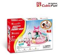 New Arrival:CubicFun three-dimensional 3D puzzle building model educational toys- P624h shopping street - dessert shop