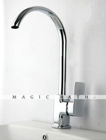 Mace High quality Brass Kitchen Faucet without pop-up drain -  Chrome / Bath & Kitchen Store Free shipping