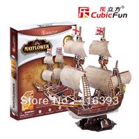 New Arrival:CubicFun three-dimensional 3D puzzle building model educational toys/children toys - T4009h mayflower
