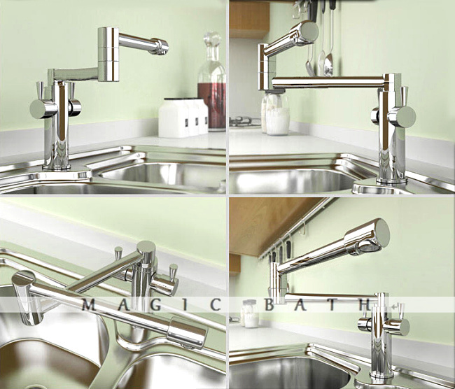 Folder Factory Direct Sale High quality Brass Kitchen Faucet - Chrome / Bath & Kitchen Store Free shipping(China (Mainland))