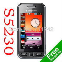 Original samsung s5230 cell phones , Unlocked samsung s5230 Mobile Phones single card touch screen mp3 player