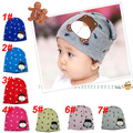 100% cotton cute bear design baby hat beanies cap, Colors #1~#7 Free shipping