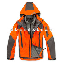 Mens Name Brand Waterproof Jacket Outdoor Clothes Orange Winter Ski Camping Wear Fleece Hooded T36