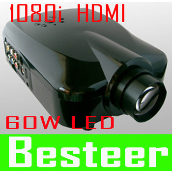 1080i ProNEW!! 1080i LED Projector TV Tuner+HDMI+AV in+VGA+ Svideo+YPbPr/YCbCr LED lamp life of 20,000 hours  free shipping