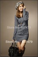 New Autumn Korean version of Women's Fashion Twist V-neck Long Sleeve Woollen Pullovers Sweater
