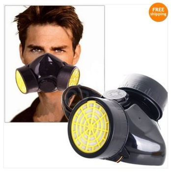 New Dual Cartridges Filter Respirator Paint Dust Proof Mask