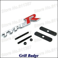 5pcs/lot TYPE R Car Emblem Automobile Grill Badge Free Shipping
