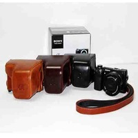 PU Leather Camera Case Bag For Sony Sony NEX6 NEX-6 NEX 6 16-50mm