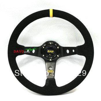 R14 inch ( Genuine leather) Sport Steering Wheel/racing steering wheel/OMP steering wheel