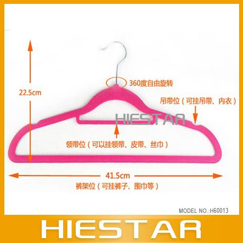 Saving Velvet Clothes Hangers Ultra Thin Black Non Slip Coat Pants NEW(Hong Kong)