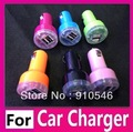Dual USB Port Cigarette Car Charger For Apple IPhone 4 4G 4S New IPad 2 3 Samsung S3 HTC Power Double Auto Micro 2.1A 2A