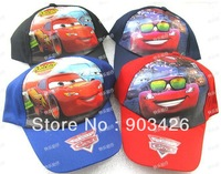 Free Shipping!50pcs/Lot Fashion Cartoon Children Cap Cars Kids Hat G2182 on Sale Wholesale