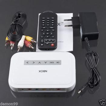 NBOX HDTV Media TV Player DivX Hard Driver USB Card MP3 MP4 RM RMVB HD TV 720P, Free & Drop Shipping.