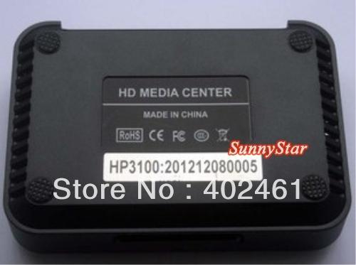Free shipping Cheap RM RMVB DIVX Media Player with SD MMC Card Reader,OTG HOST HP3100 RMVB HDD(China (Mainland))
