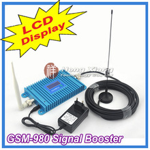 LCD Display !!! GSM 900Mhz Mobile Phone GSM980 Signal Booster , GSM Signal Repeater , Cell Phone Amplifier With Cable + Antenna(China (Mainland))