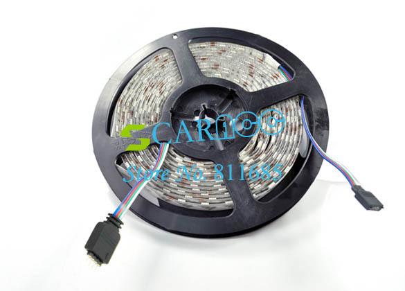 Waterproof Flexible RGB Light Strip + 24 IR Remote 12V SMD5050 5M 300 LEDs Free Shipping 2738