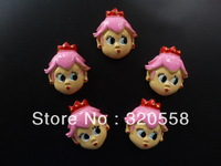 50pcs Princess Toadstool Peach pink hair DIY craft Cabochons FlatBack Resins Scrapbooking Embellishment #544