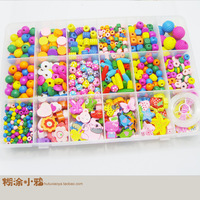 Child educational toys princess jewelry box eco-friendly wooden beads beaded plus size set
