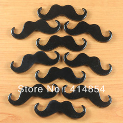 Wholesale 50 pcs Cute Mardi Gras Black Mustache Resin Cabochon Flatbacks Flat Back Scrapbooking Hair Bow Center Crafts Making(China (Mainland))