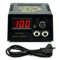 Black Golden lion Design Casting LCD Digital Tattoo Power Supply Machine gun + Plug free shipping