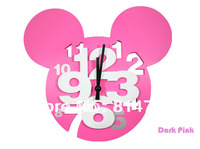 Cartoon 3D Numbers Wall Clock Gift