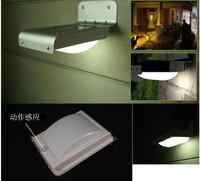 100pcs/LOT 16 LED Wall Lighing Lamp /Solar Powered / Sound/ Motion Sensor Energy-saving Garden LED light  + Free Shipping