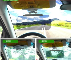 Functional 2 in 1 Car Anti-glare Glass for Day &amp; Night Driving / anti glare mirror Non-Glare + Free Shipping(China (Mainland))