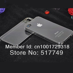 Ultra Thin Crystal Clear Snap-on Hard Transparent Case Cover for iPhone 4 4S Free Shipping 10pcs/lot(China (Mainland))