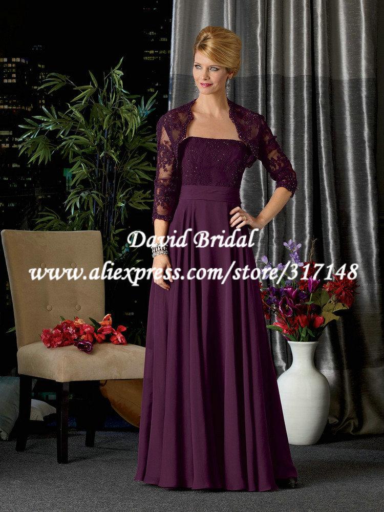 Mother Of The Bride Dresses Dark Purple 19