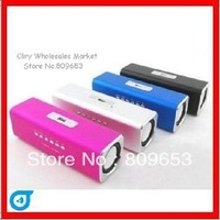 NEW! Portable Mini Mobile Speaker with USB/TF card reader FM radio MP3 Player sound box FREE SHIPPING