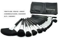 Authentic MAKE-UP FOR YOU 24pcs Makeup Brushes Set Brush BLACK