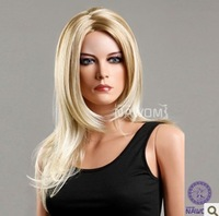 Free shipping  women's full lace  cheap long blonde wigs in stock