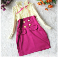 Baby girl dress kids children long sleeve girls Dresses 1228 B 1135184813
