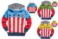 2013 fashion children's clothing  long-sleeve thick hoodie  sweatshirt