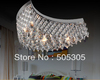 Free Shipping cheap factory wholesales price MOON shape in chrome or gold color crystal ceiling lamp send By EMS ETL8204