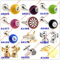 Fashion Jewelry Sports Betting Style Metal Cufflinks For Mens Accessories Cuff links Men Designer Cufflink High Quality