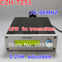 New! freeshipping CZH-T251 0-25W Fm transmitter for Fm radio station 76-96MHZ