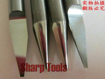 10pcs shank-3.175mm, degree-20 metal engraving cutting tools, on cnc metal carving milling machine