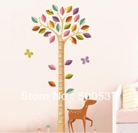 JM7187 New removable vinyl wall stickers Cartoon sika growth height chart home decor wall decals for kids rooms JM7187 100pc miX