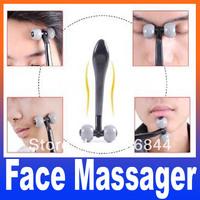 2pcs/lot T type face skin massager men's mini handheld massage Free Shipping