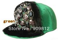 Free Shipping 2013 New Style, Button mink sewing flat brimmed hat, Punk hip-hop cap, Rivets Snapback caps, 10 color 10pcs/lot