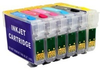 Empty 6-color-set 81N refill ink cartridge with chip for Epson artisan 730 837,photo T50 TX650 TX700 TX710 TX800 TX810