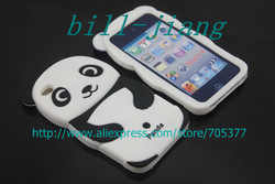 black 3D Cute Panda Silicone Soft Back Cover case for ipod Touch 4 4G 4TH 1pcs/lot freeshipping(China (Mainland))
