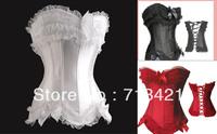 Бесплатные p & корсет сексуальные женщины p + g строку Набор белья, cincher, кружева вверх боди, бахрома формирователь топы, push up бюстье погоны xxl