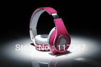 Pink zone bit wearing headphones