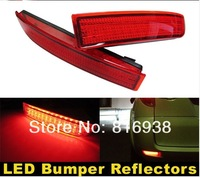 High quality Red Lens 39-SMD LED Bumper Reflectors For 2006 up Toyota Rav4 & 2008 up Scion xD