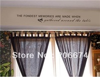 New Stylish Dining Room Wall Decal Sticker (Black)+free shipping