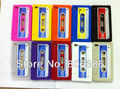 New Retro Cassette Tape Design Silicone Back Cover Shell Skin Case For iPhone 4 4G 4S,Wholesale 20pcs/lot